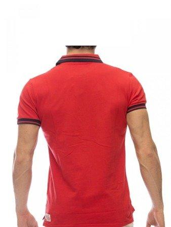 Tričko LEONE Polo červené M [LSM1725]