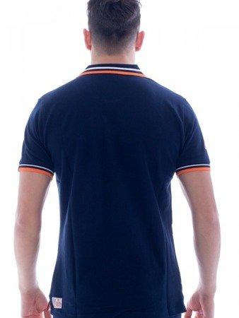 Tričko LEONE Polo tmavě modré M [LSM1725]