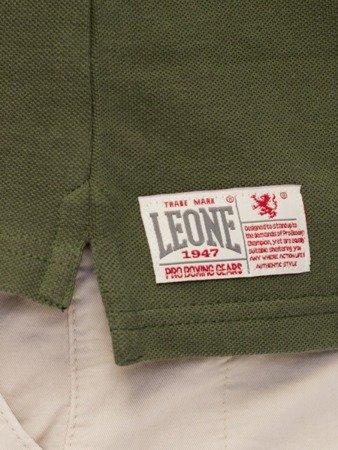 Tričko LEONE Polo tmavě zelené M [LSM1725]